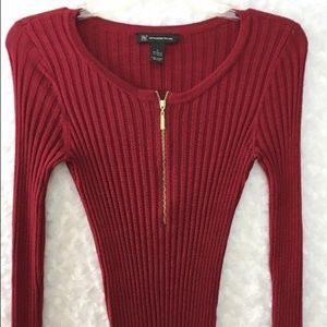 INC International Concepts Women's Red Long Sleeve